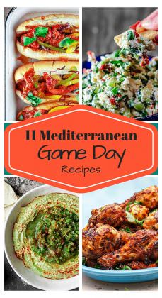 11 Game Day Recipes with a Mediterranean Twist!