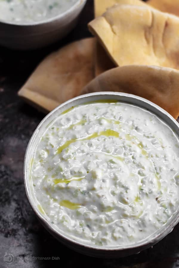 Authentic Tzatziki Sauce Recipe Video Tutorial The Mediterranean Dish