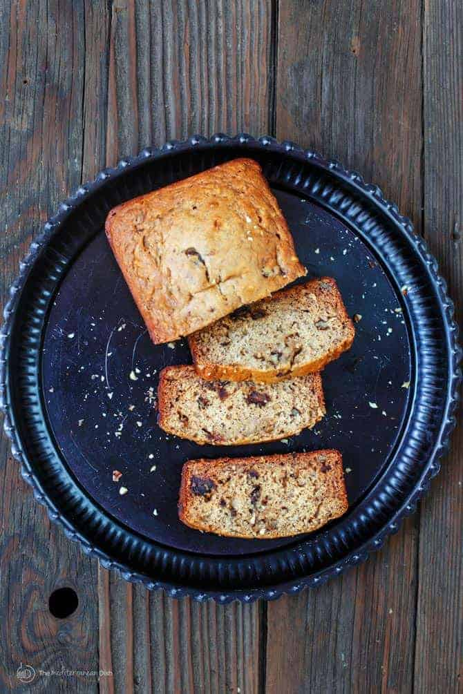 Cardamom Banana Walnut Bread (Made with Olive Oil!)