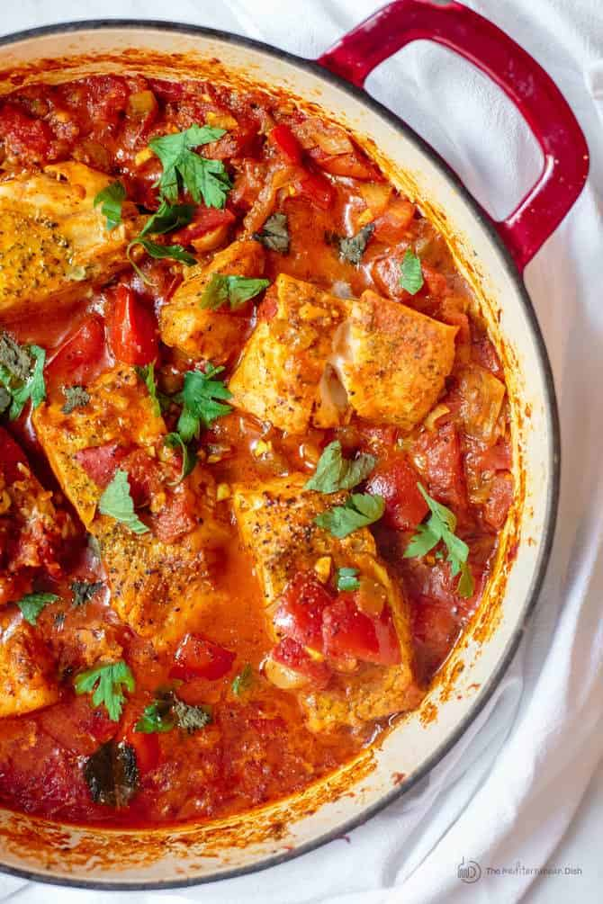 Fish Fillet Recipe, Shakshuka Style