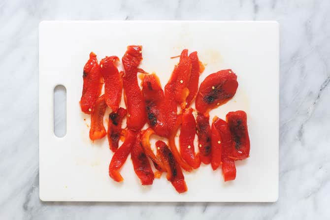 Bell peppers chopped into slices