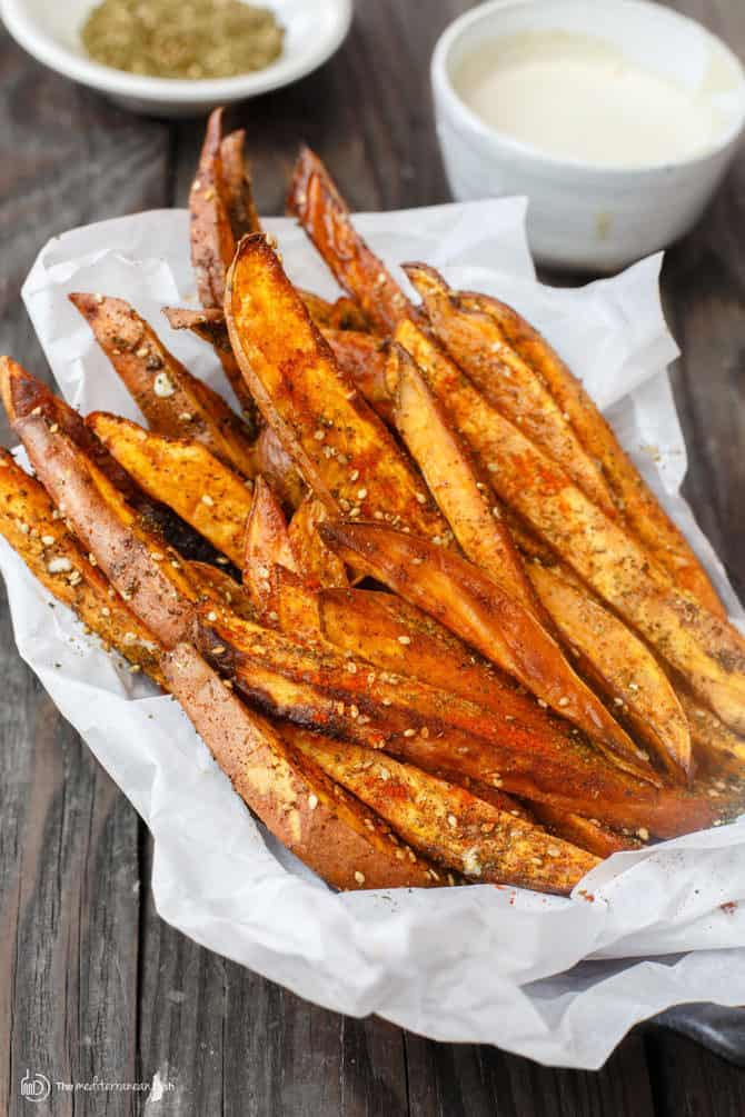 Spicy oven baked sweet potato fries recipes