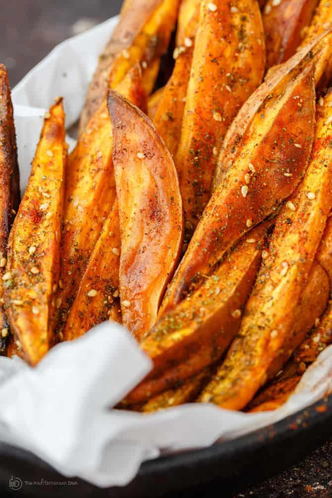 Best Oven Baked Sweet Potato Fries The Mediterranean Dish
