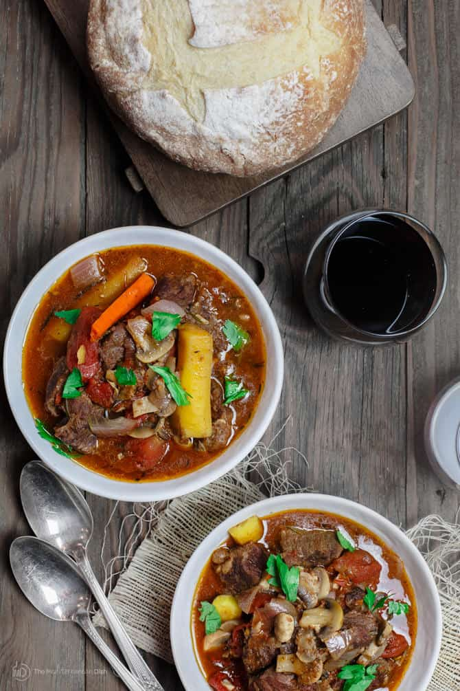 Rustic Italian Beef Stew In Crock Pot The Mediterranean Dish