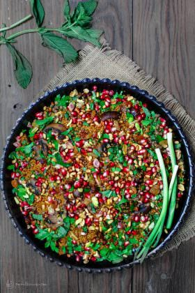 Jeweled Couscous Recipe w/ Pomegranate and Lentils