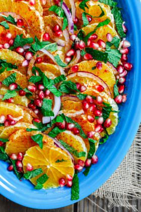 Easy Mediterranean Orange and Pomegranate Salad Recipe