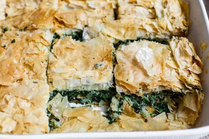 Spanakopita Recipe Greek Spinach Pie The Mediterranean Dish Best Tutorial For