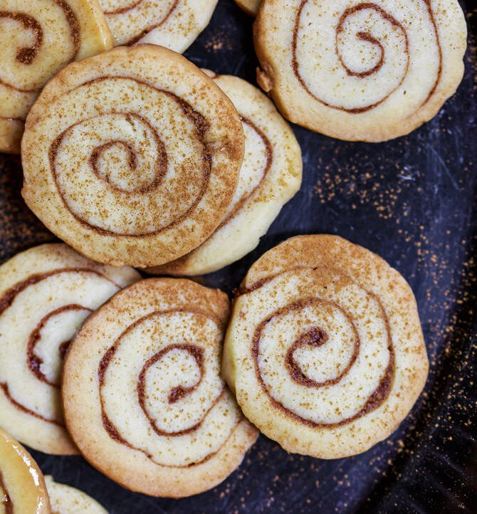 Honey Bun Cinnamon Cookies   The Mediterranean Dish. Extremely moist, buttery, cinnamon cookies topped with a delicious honey icing. Easy recipe with step-by-step tutorial. Perfect holiday cookies or every-day cookies! See it on TheMediterraneanDish.com