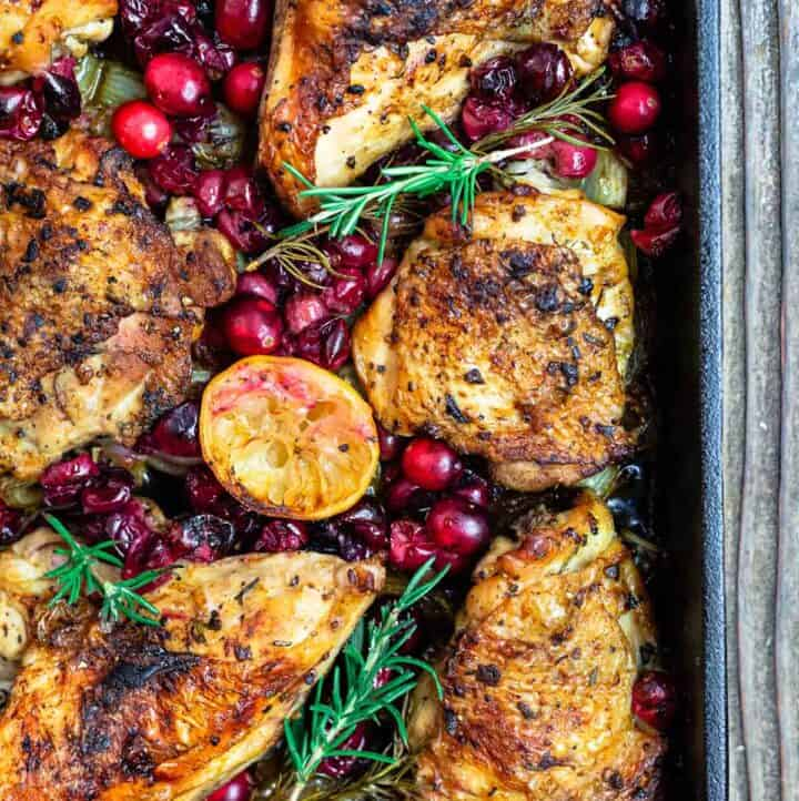 Baked Cranberry Chicken with Rosemary
