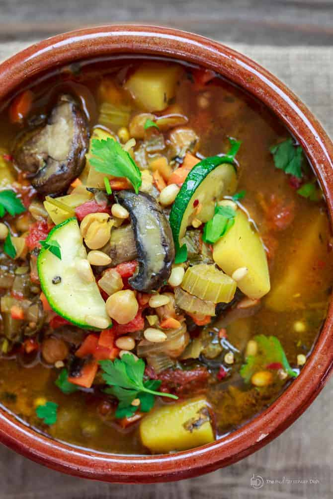 """Mediterranean Homemade Vegetable Soup 