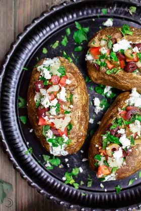 Mediterranean Loaded Baked Potato Recipe