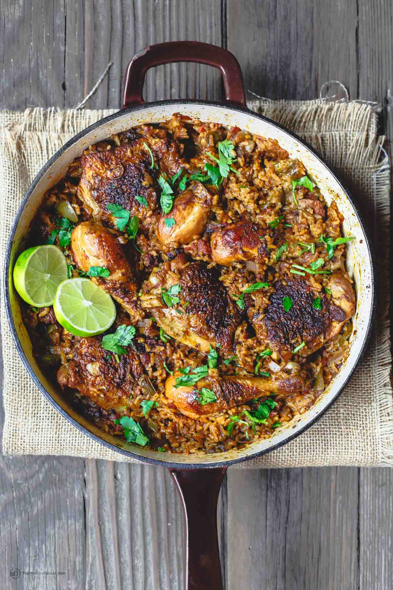 Simple spanish chicken and rice recipe with chorizo the spanish chicken and rice recipe with chorizo the mediterranean dish a simpler version of forumfinder Image collections