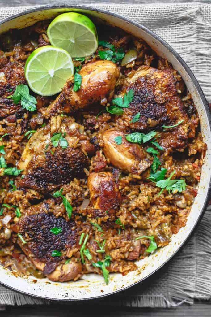 Spanish Chicken and Rice Recipe with Chorizo