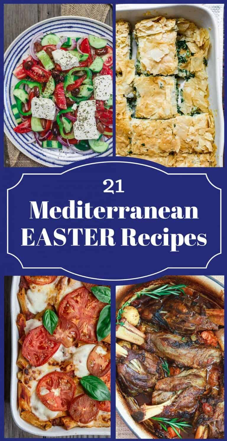 Mediterranean Easter Recipes | The Mediterranean Dish. 21 Amazing Easter Recipes with a Mediterranean twist! From lamb roast to Spanakopita, Greek potatoes, bright salads and desserts. Give your Easter a Mediterranean twist with these easy recipes from TheMediterraneanDish.com #mediterraneanrecipes #easterrecipes #easterdinner #mediterraneandiet #lamb #Greek #greekfood #italianfood #middleeasternfood