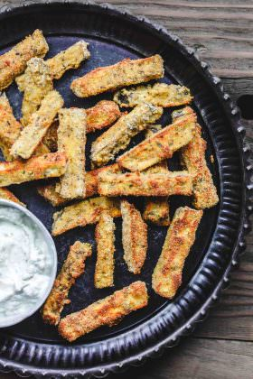 Baked Eggplant Fries with Greek Tzatziki Sauce