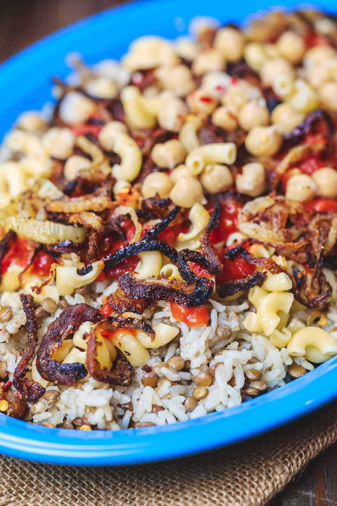 Egyptian koshari recipe the mediterranean dish egyptian koshari recipe the mediterranean dish hands down a family favorite a comforting forumfinder