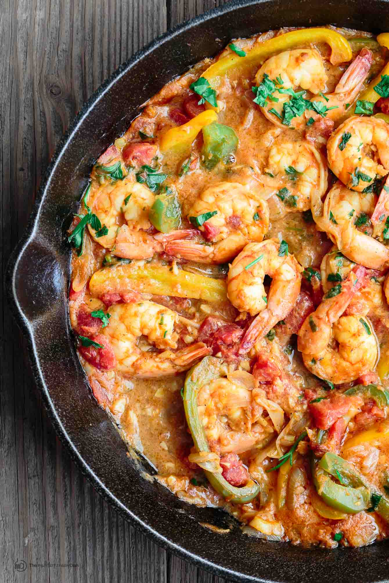 Easy shrimp recipe mediterranean style the mediterranean dish easy shrimp recipe the mediterranean dish easy mediterranean skillet shrimp packed with flavor forumfinder