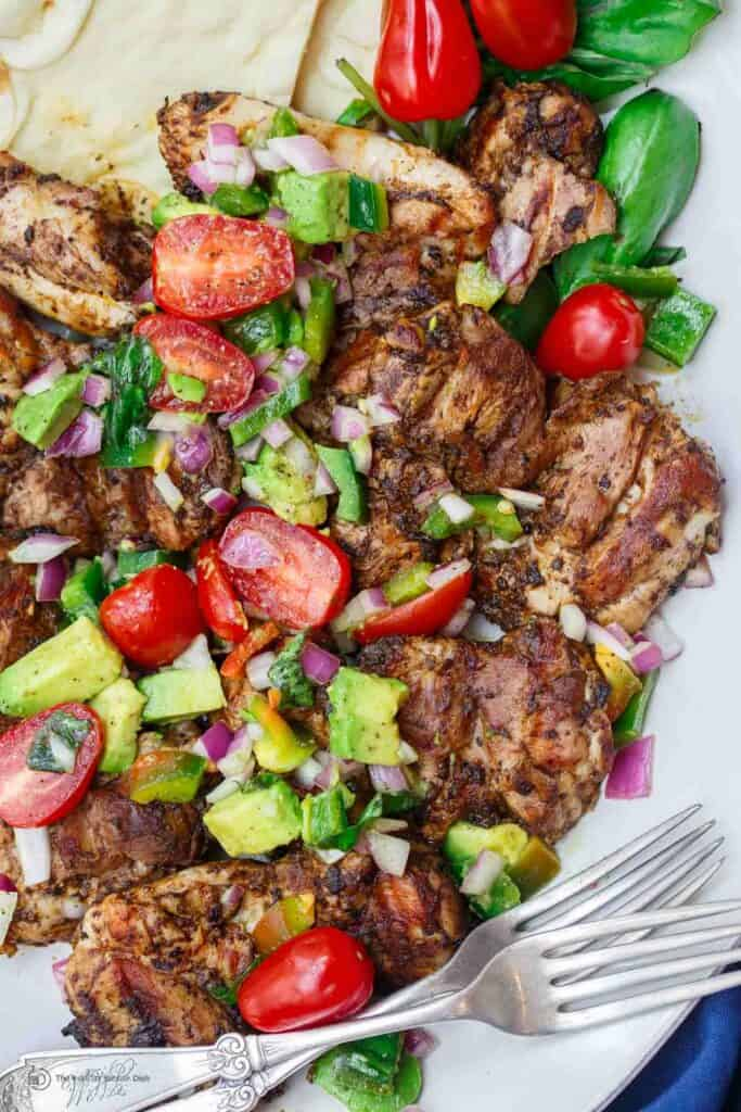 Easy Persian Barbecue Chicken Thighs The Mediterranean Dish