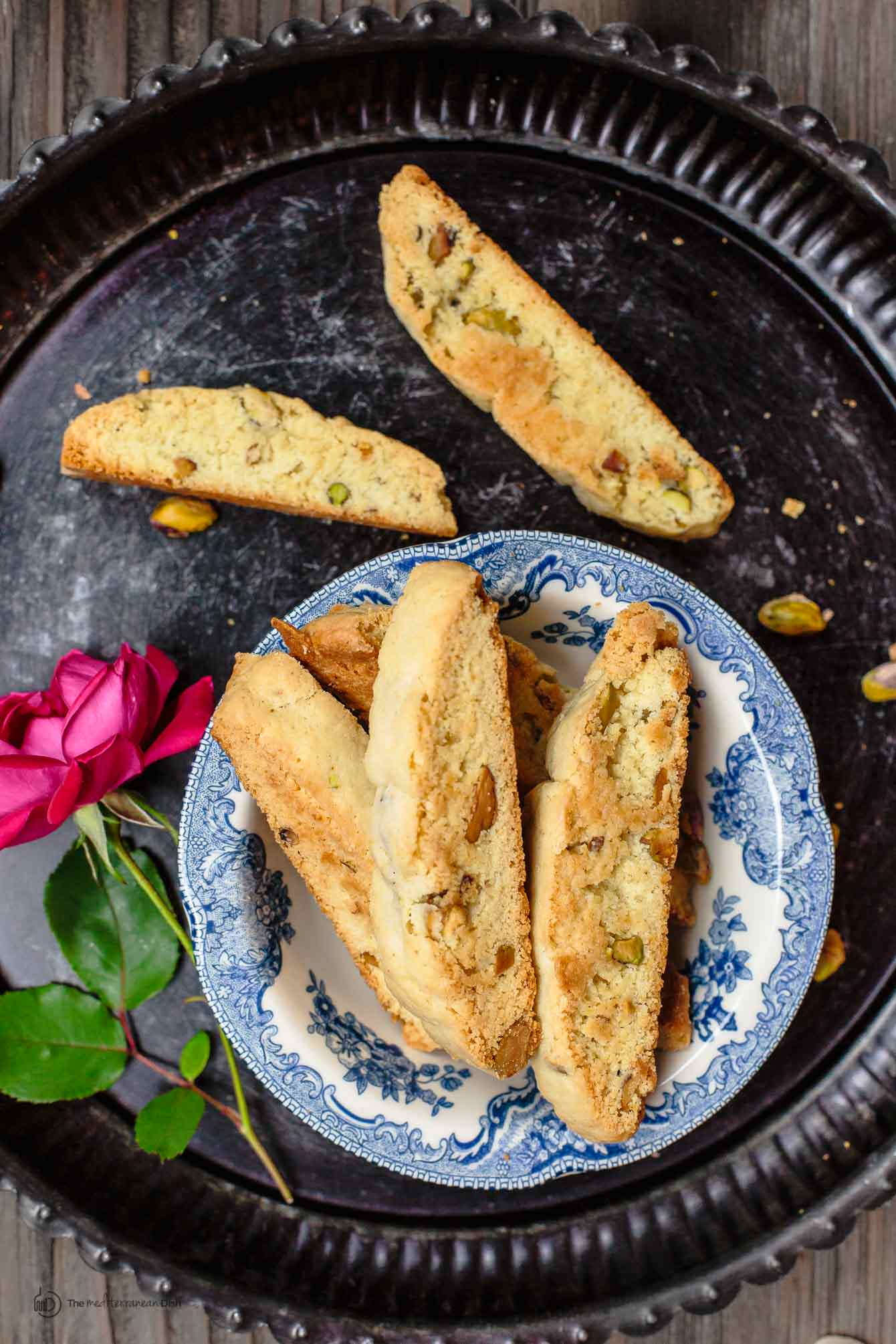 Easy Biscotti Recipe with Pistachios and Cardamom | The Mediterranean Dish. As Italian biscotti should always be, dense, textured, and perfectly crunchy. Get the tips and full recipe on TheMediterraneanDish.com