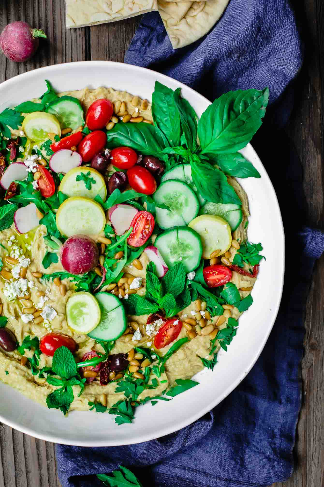 Bowl of Mediterranean Farmer's Market Hummus Dip
