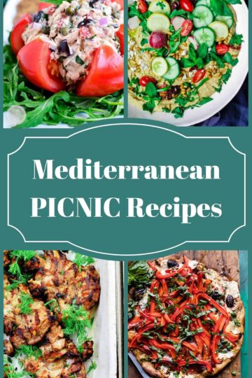 25 Mediterranean Picnic Recipes | The Mediterranean Dish. Amazing picnic recipes with a Mediterranean twist! Flavor packed salads; no-mayo zesty tuna; chickpea salads; pasta salads; Greek macaroni and cheese; kabobs; Greek chicken wings; and even desserts like brownies and lemon cake! See them all on TheMediterraneanDish.com