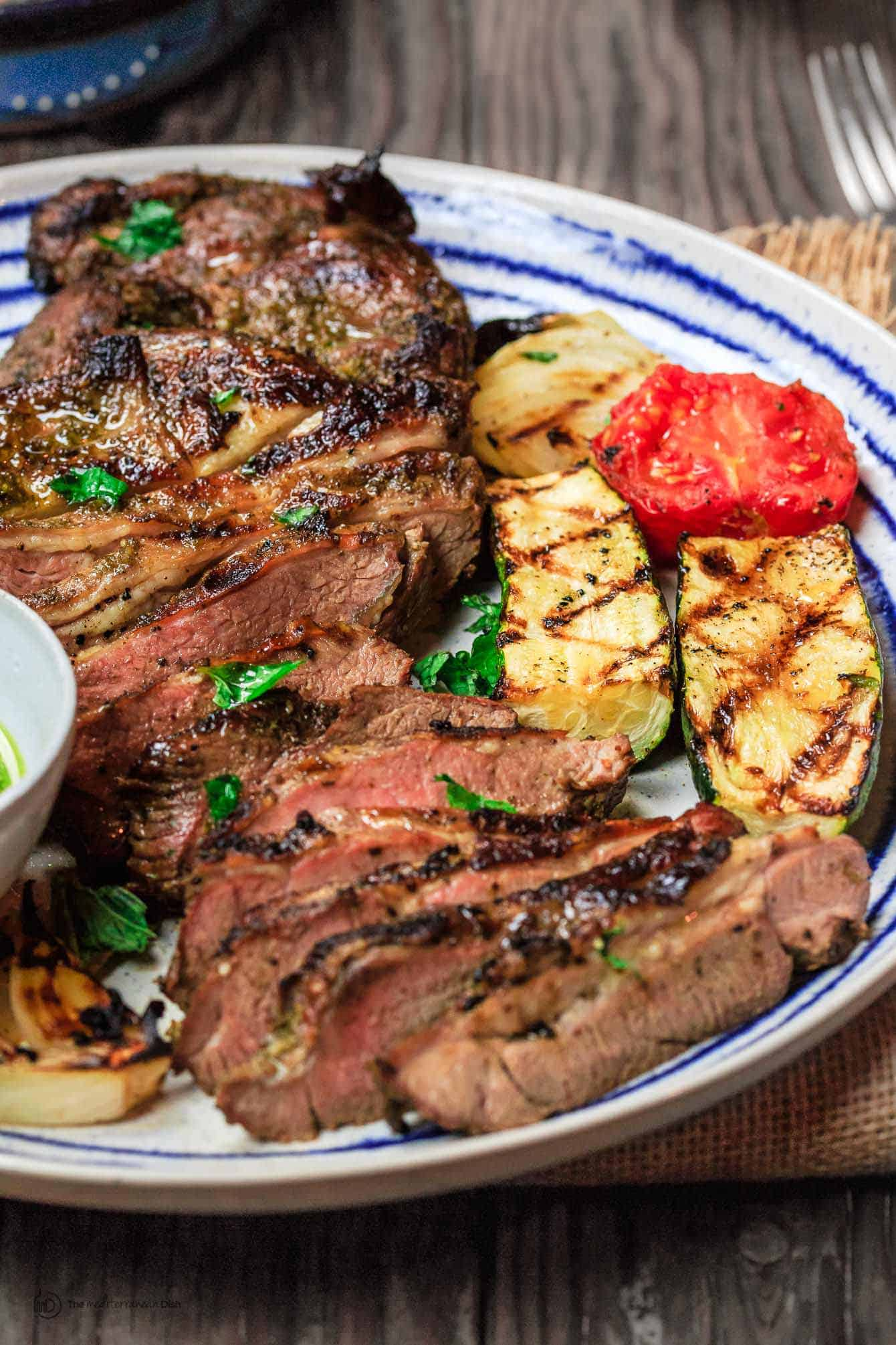 Mediterranean Grilled Lamb Leg with Mint Pesto | The Mediterranean ... for Whole Lamb Grill  75tgx