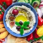 Homemade Labneh Recipe | The Mediterranean Dish. Homemade labneh, Middle Eastern yogurt cheese that is tangy, creamy and lighter than your average cream cheese. Use it as mezze or to spread on your favorite bread. Versatile and super easy to make! A two-step recipe from TheMediterraneanDish.com