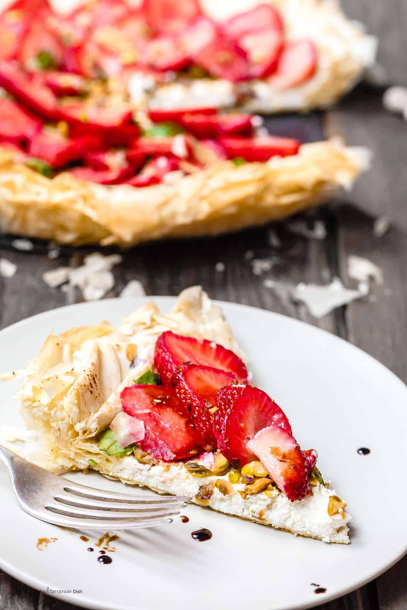 Strawberry Tart with Fillo Crust!   Strawberry Tart Recipe with Phyllo Crust The Mediterranean Dish 12