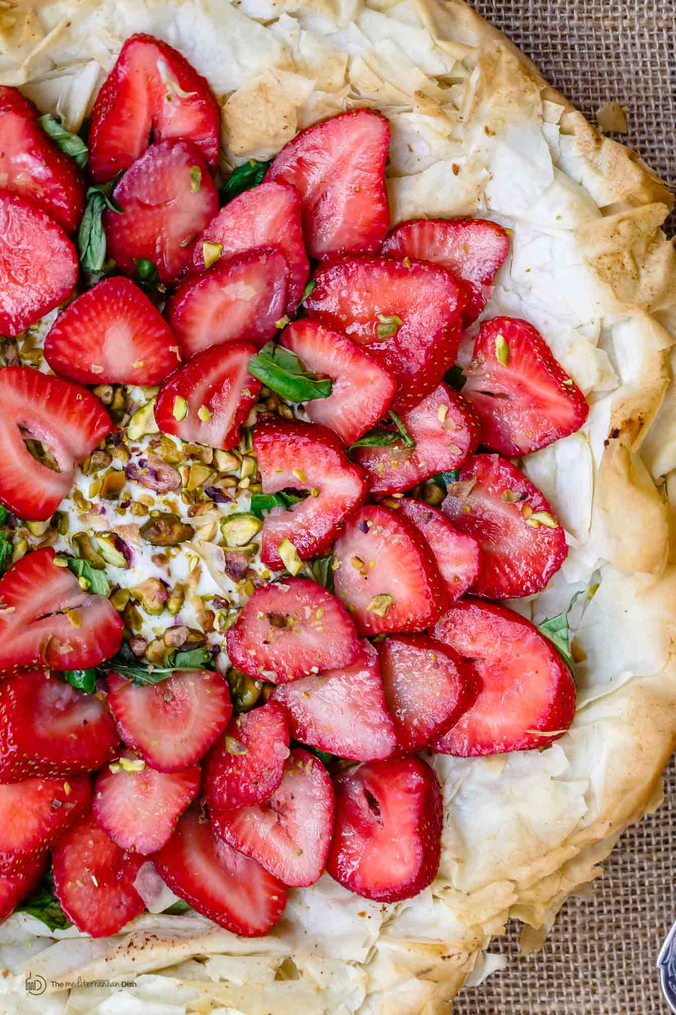 Strawberry Tart with Fillo Crust!   Strawberry Tart Recipe with Phyllo Crust The Mediterranean Dish 9