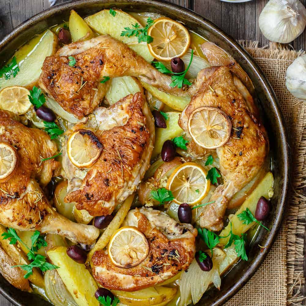 Greek Chicken And Potato Dinner The Mediterranean Dish