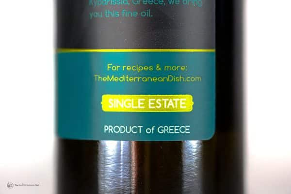 Extra Virgin Olive Oil Private Reserve Product of Greece by The Mediterranean Dish