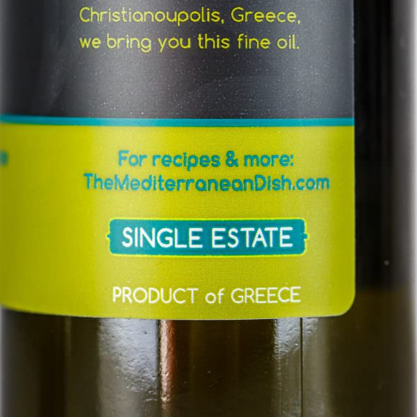 Extra Virgin Olive Oil Early Harvest Product of Greece by The Mediterranean Dish