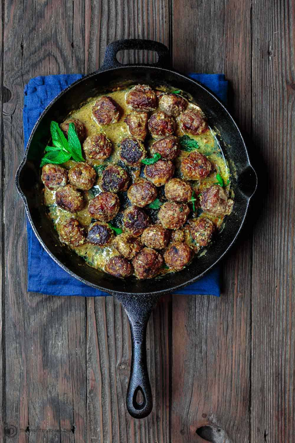 Keftedes Greek Meatballs Recipe. Part of 21 Mediterranean Christmas Brunch Recipes | The Mediterranean Dish. #christmasbrunch #mediterraneanrecipes #brunchrecipes