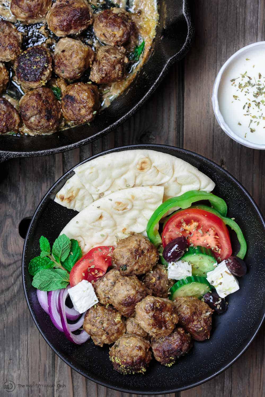 Keftedes greek meatballs with a lemony sauce keftedes greek meatballs recipe the mediterranean dish best greek meatballs ever spiced with forumfinder Images