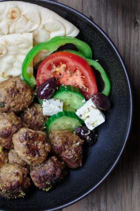 Keftedes: Greek Meatballs Recipe with a Lemony Sauce