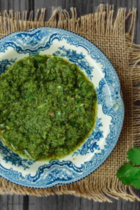 Zhoug: Spicy Cilantro Pesto Recipe