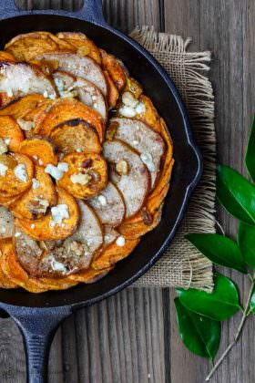 Roasted Pear and Sweet Potato Gratin