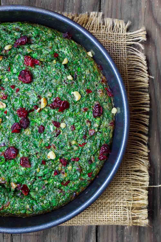 Kuku Sabzi: Persian Herb Baked Omelet