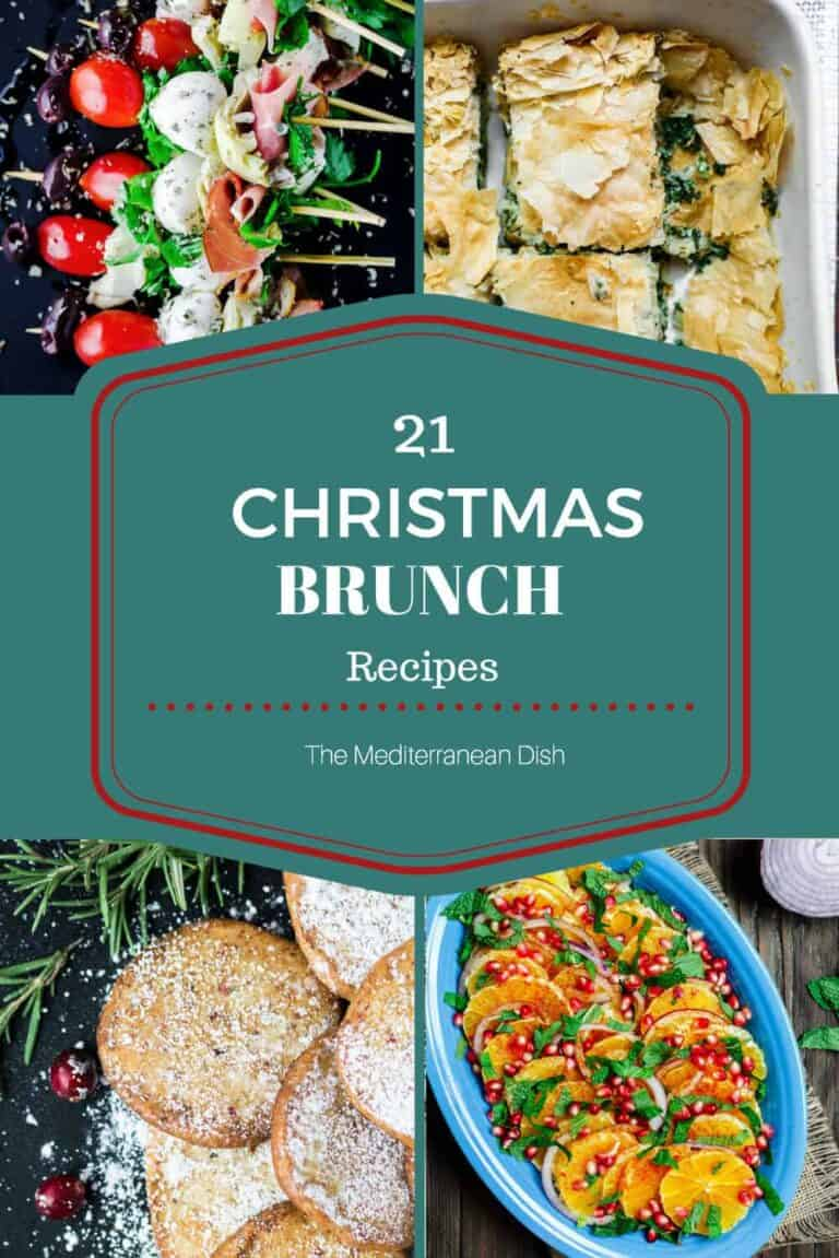 21 Mediterranean Christmas Brunch Recipes | The Mediterranean Dish. A roundup of amazing brunch recipes with a Mediterranean twist. From egg casseroles, to fresh festive salads, appetizers and sweets like bakalva and Christmas cookies! On TheMediterraneanDish.com
