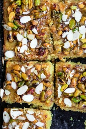 Greek Orange Honey Cake with Pistachios