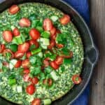 Feta and Spinach Frittata Recipe | The Mediterranean Dish. Easy, flavor-packed fritta with feta, spinach, and parsley. The perfect breakfast or weeknight dinner in just 20 minutes. From TheMediterraneanDish.com #frittata #eggs #mediterraenandiet #mediterraenanfood #italianfood #spinach #feta #healthyrecipes #easyrecipes