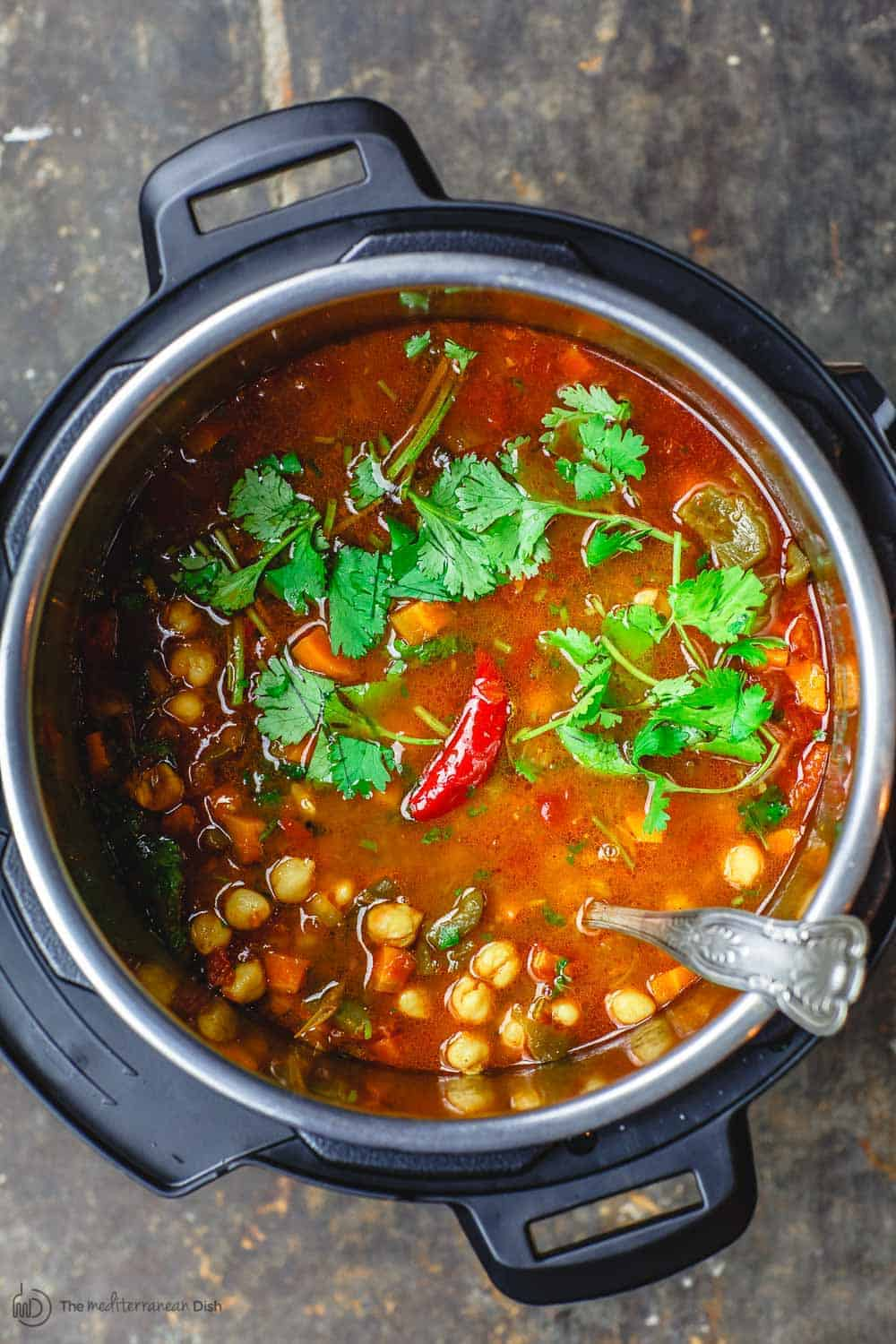 Chickpea Instant Pot Soup (Stovetop & Slow Cooker Options)