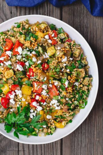 The mediterranean dish mediterranean recipes lifestyle mediterranean roasted vegetables barley recipe forumfinder Image collections