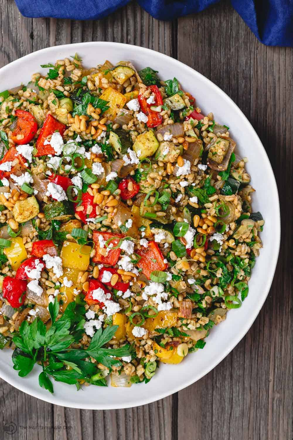 Barley Recipe with Roasted Vegetables | The Mediterranean Dish