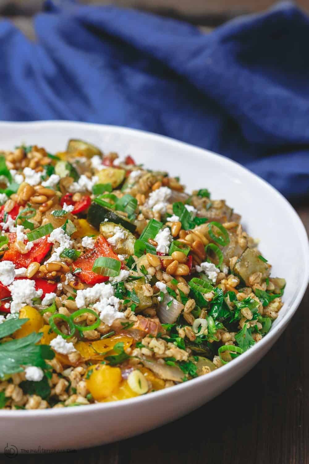 Roasted vegetable barley