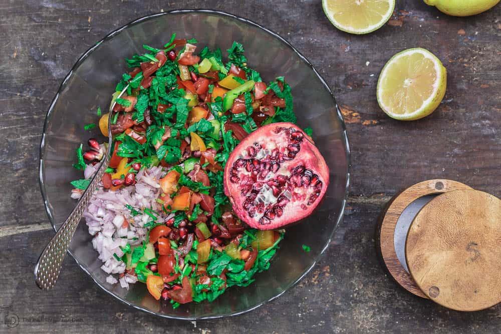Mediterranean Pomegranate Salsa