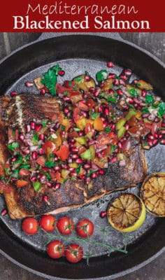 Mediterranean Blackened Salmon