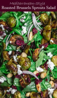 Mediterranean-Style Roasted Brussels Sprouts Salad
