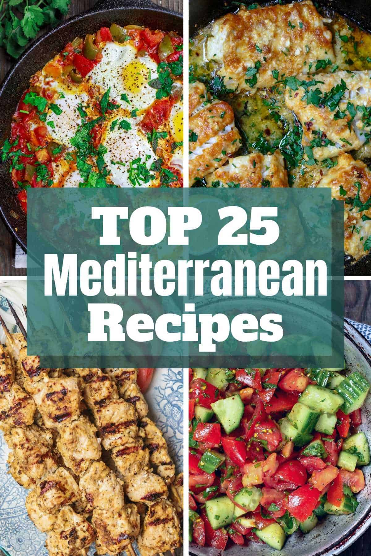 BEST Mediterranean Recipes! Top 18 Mediterranean recipes and Mediterranean diet recipes of 2018 from themediterraneandish.com