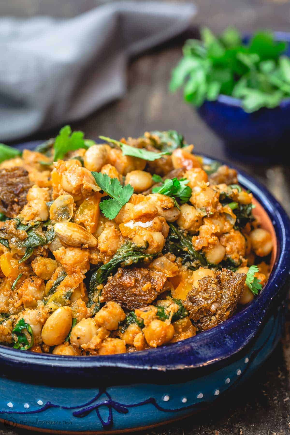 Spanish Chickpea Stew with Spinach and Almonds